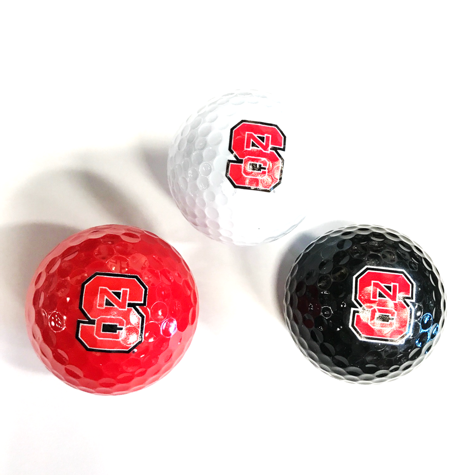 NC State Wolfpack 3 Pack Multi Colored Golf Balls
