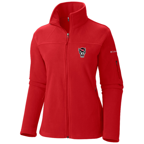 NC State Wolfpack Columbia Women's Red Give and Go Full Zip Jacket