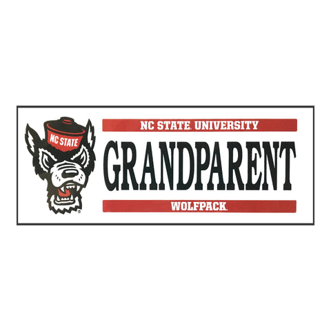 NC State Wolfpack Wolfhead Grandparent Magnet