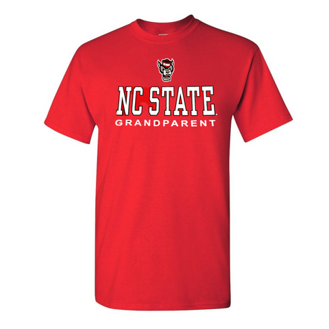 NC State Wolfpack Red NC State Grandparent Wolfhead T-Shirt