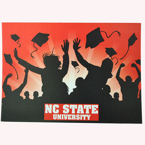 NC State Wolfpack Tossing Caps Graduation Card