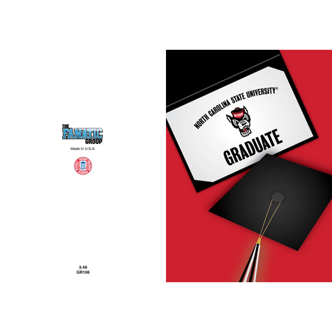 NC State Wolfpack Graduation Cap Card