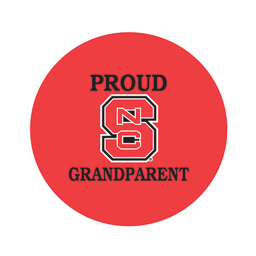 NC State Wolfpack Proud Grandparent Fabric Button