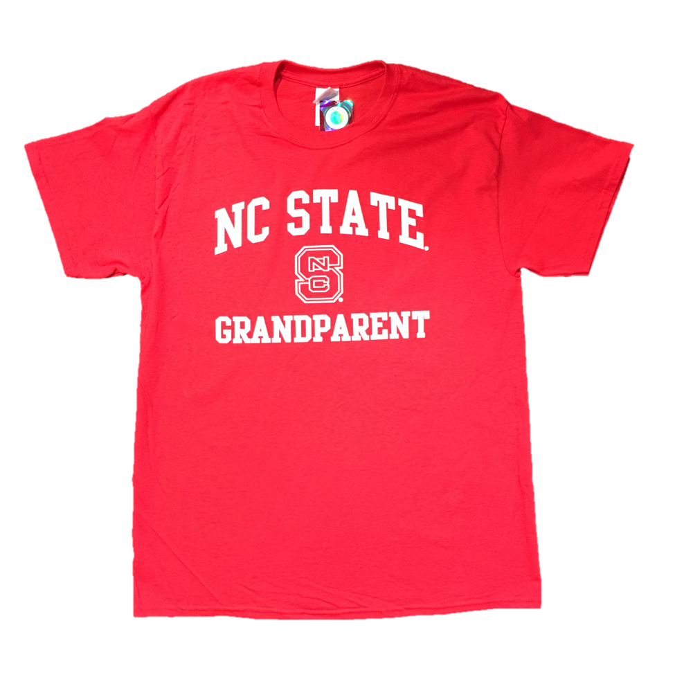 C State Wolfpack Red Block S Grandparent T-Shirt