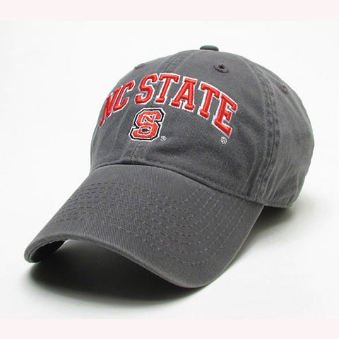 NC State Wolfpack Dark Grey Relaxed Twill Adjustable Hat