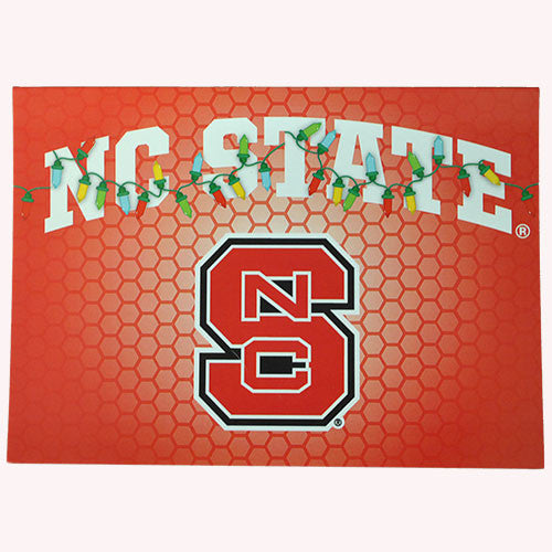 NC State Wolfpack Holiday Lights Greeting Card Pack