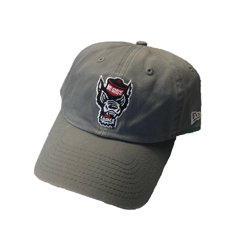NC State Wolfpack New Era Grey Wolfhead Adjustable Hat