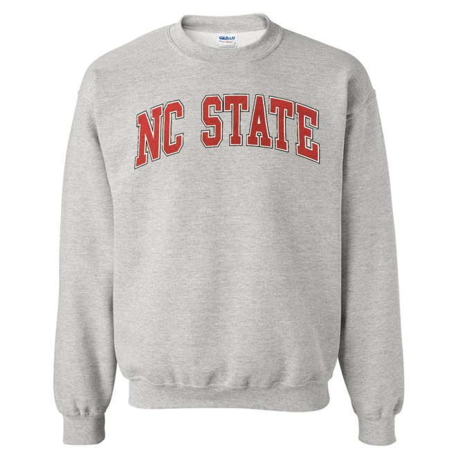 NC State Wolfpack Grey Arch NC State Crewneck Sweatshirt