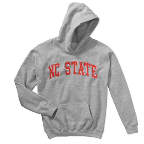 NC State Wolfpack Grey Arch NC State Hooded Sweatshirt