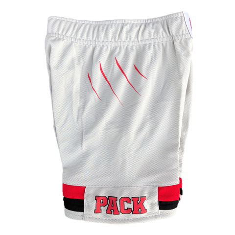 NC State Wolfpack Adidas Youth Grey 2017 Alternative Replica Basketball Shorts