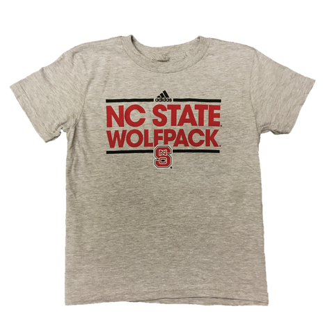 NC State Wolfpack Adidas Youth Grey Dassler T-Shirt