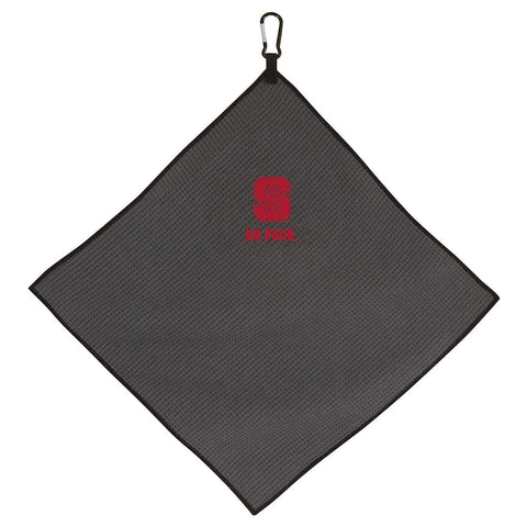 NC State Wolfpack 15x15 Grey Go Pack Golf Towel