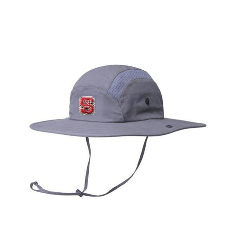 NC State Wolfpack Adidas Grey Football Sideline Safari Hat