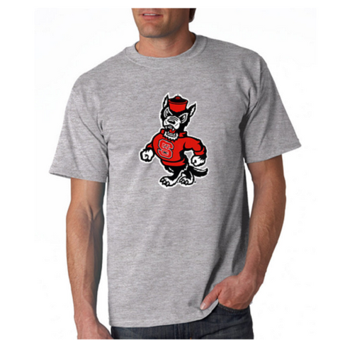 NC State Wolfpack Grey Strutting Wolf T-Shirt