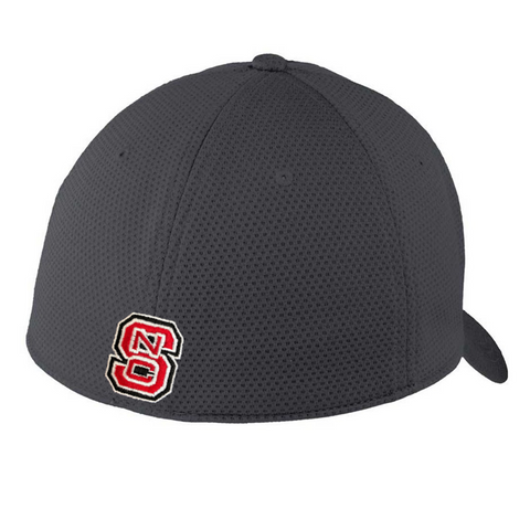 NC State Wolfpack New Era Graphite Wolfhead Mesh Fitted Hat