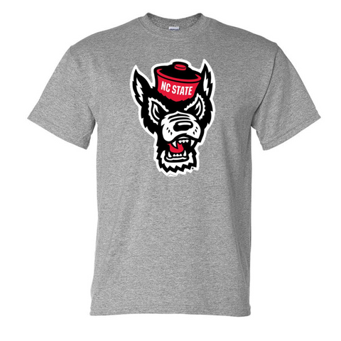 NC State Wolfpack Sports Grey Wolfhead T-Shirt