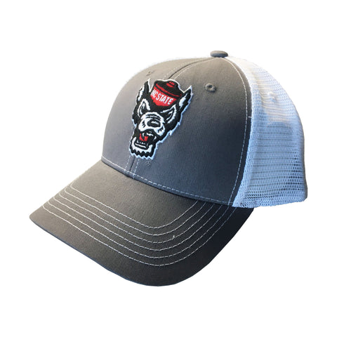 NC State Wolfpack Grey Wolfhead Ghost Mesh Adjustable Hat