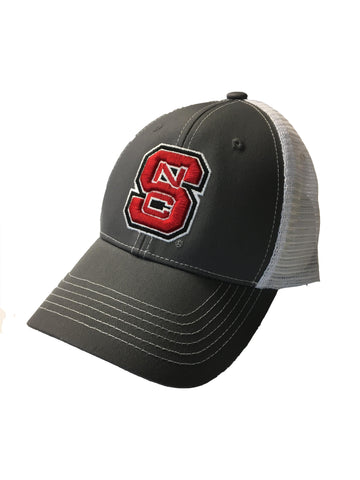 NC State Wolfpack Grey and White Adjustable Mesh Hat