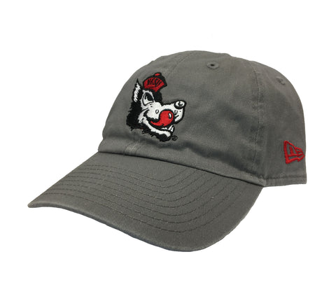NC State Wolfpack New Era Grey Slobbering Wolf Adjustable Hat