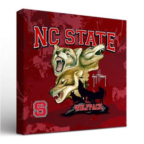 NC State Wolfpack 18x24 Guy Harvey Canvas Art
