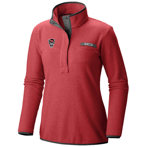 NC State Wolfpack Columbia Women's Heathered Red Harborside Jacket
