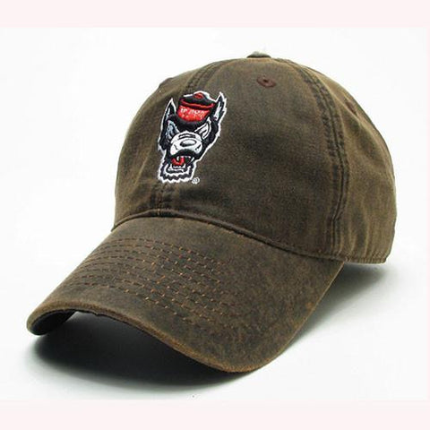NC State Wolfpack The Game Brown Wolfhead Adjustable Hat