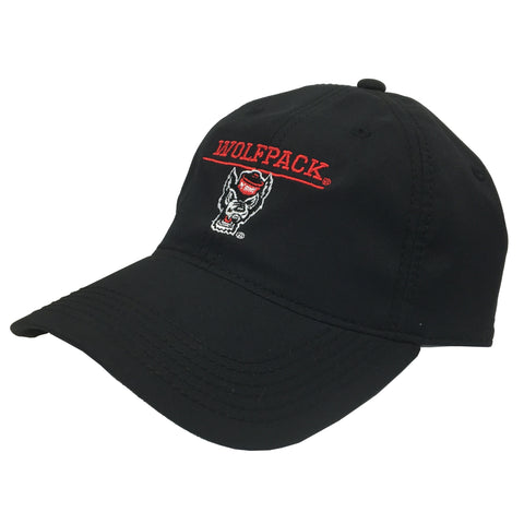 NC State Wolfpack Black Wolfhead Cool Fit Adjustable Hat