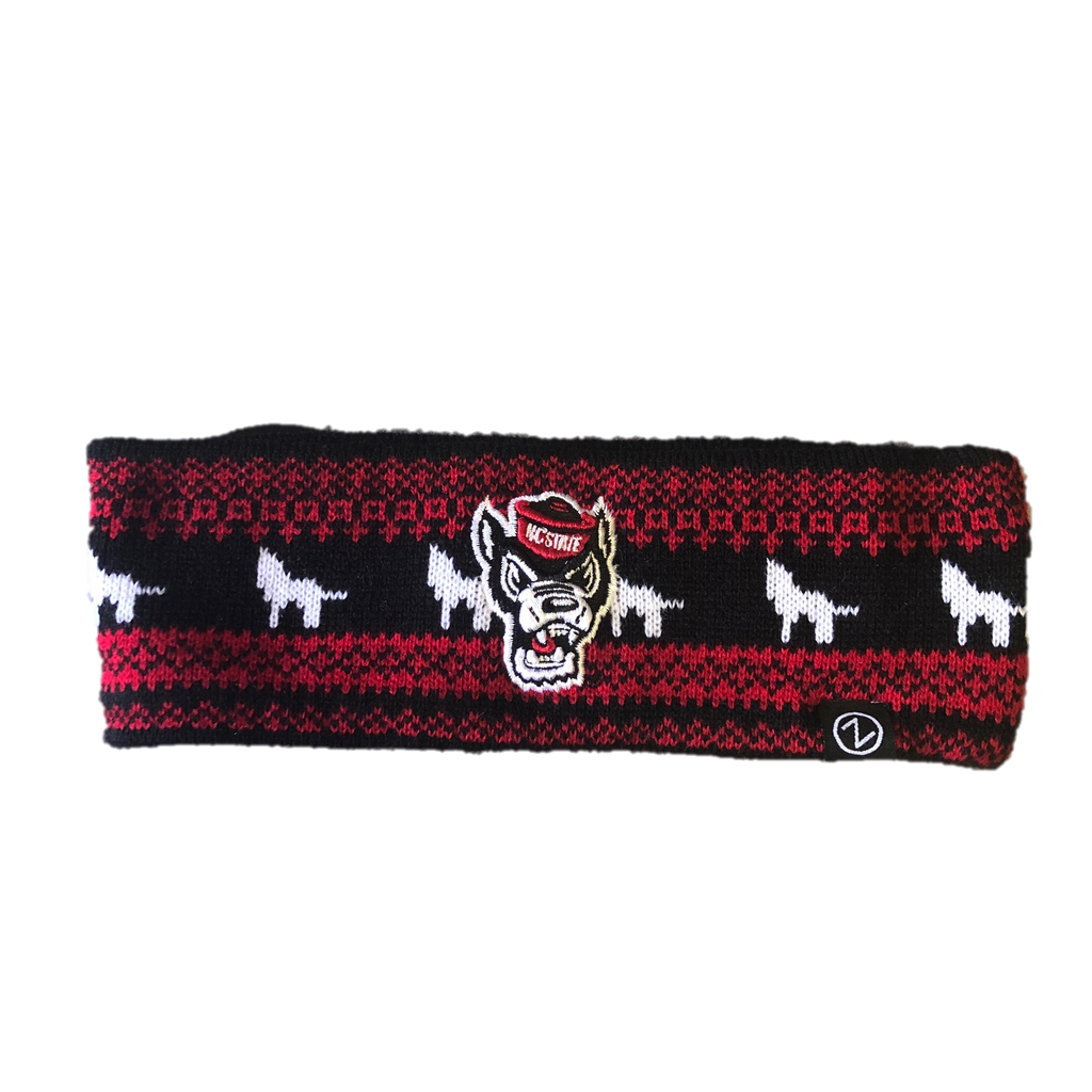 NC State Wolfpack Red and Black Wolfhead Carousel Headband