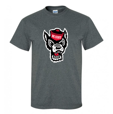 NC State Wolfpack Dark Heathered Grey Wolfhead T-Shirt