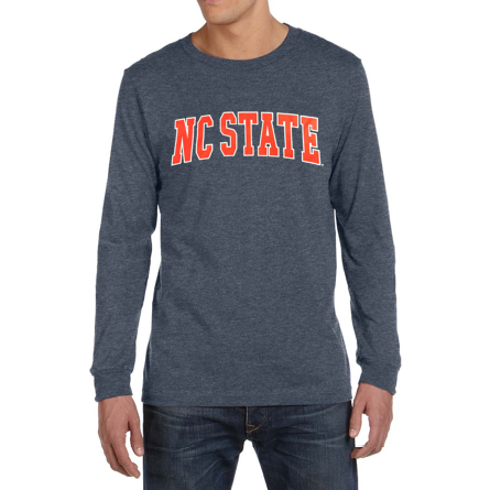 NC State Wolfpack Navy NC State Arch Long Sleeve T-Shirt