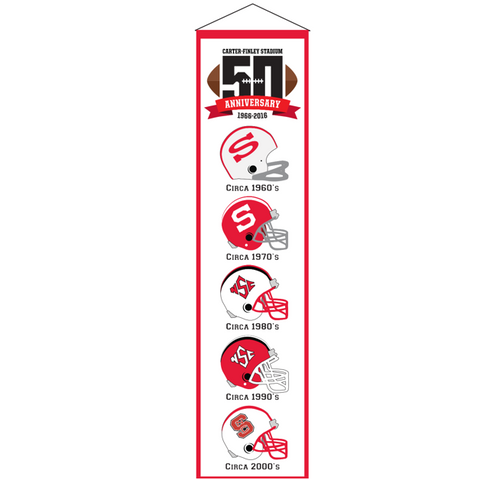 NC State Wolfpack 50th Anniversary Helmet Banner