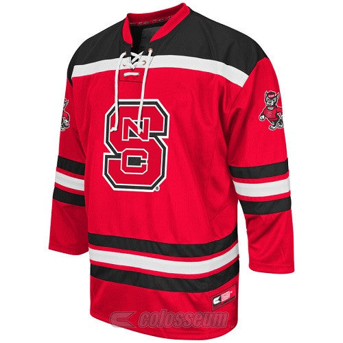 NC State Wolfpack Red Cross Check Hockey Sweater