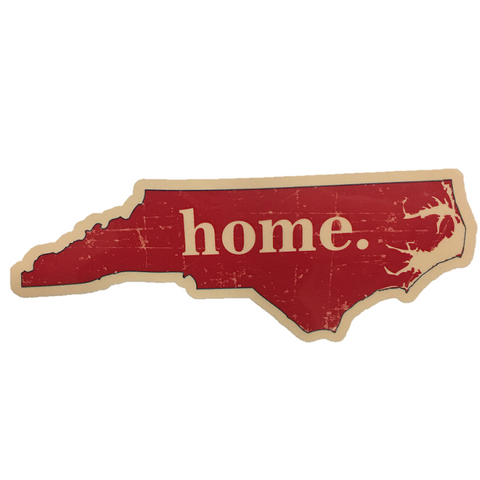 Red State With Home Vinyl Decal
