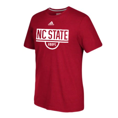 NC State Wolfpack Adidas Youth Red Performance Basketball Practice T-Shirt