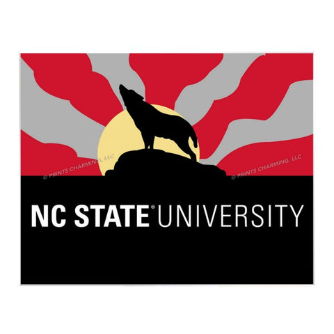 NC State Wolfpack 11x14 Howling Wolf Matted Print