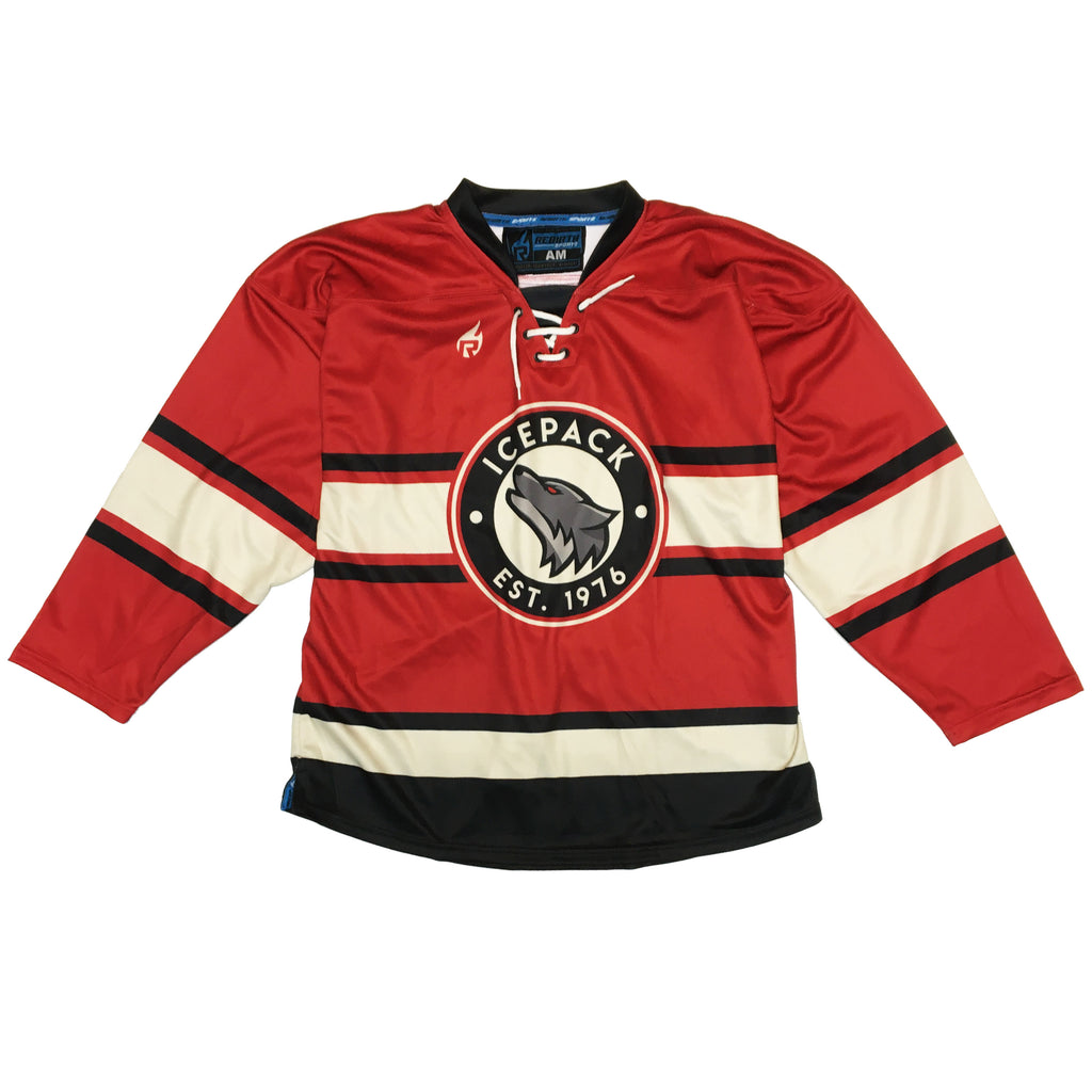 Icepack Red Hockey Jersey