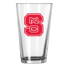 NC State Wolfpack 16oz. Red Block S Pint Glass