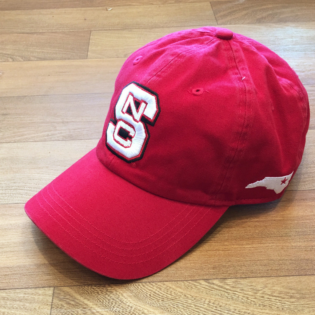 NC State Wolfpack Red Vintage Twill Unstructured Classic Cloth Strap Hat