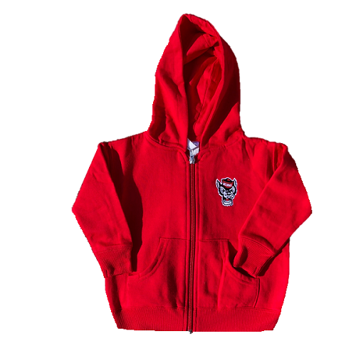 NC State Wolfpack Infant/Toddler Red Wolfhead Full Zip Jacket