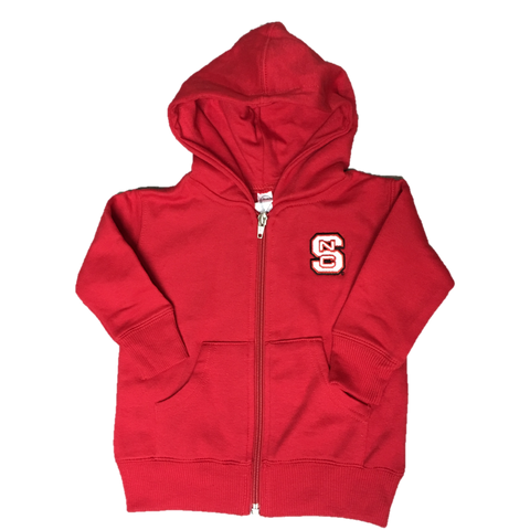 NC State Wolfpack Infant Red Block S Full Zip Jacket
