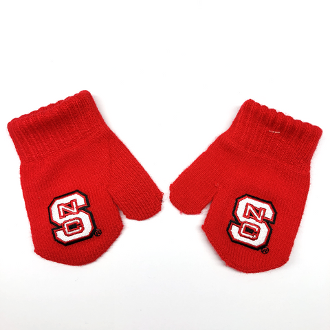NC State Wolfpack Infant/Toddler Red Mittens