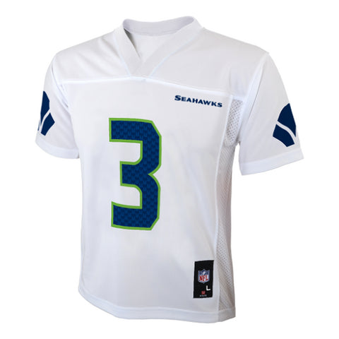 Seattle Seahawks #3 Russell Wilson White Youth Jersey