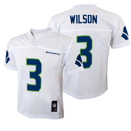 official photos 6d55e e73a2 Seattle Seahawks #3 Russell Wilson White Youth Jersey