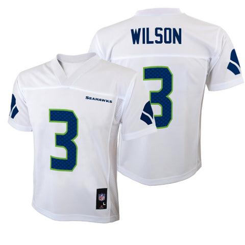 Seattle Seahawks  3 Russell Wilson White Youth Jersey 2f373eaf9
