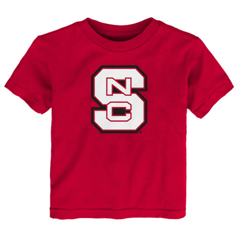 NC State Wolfpack Adidas Red Toddler Block S T-shirt
