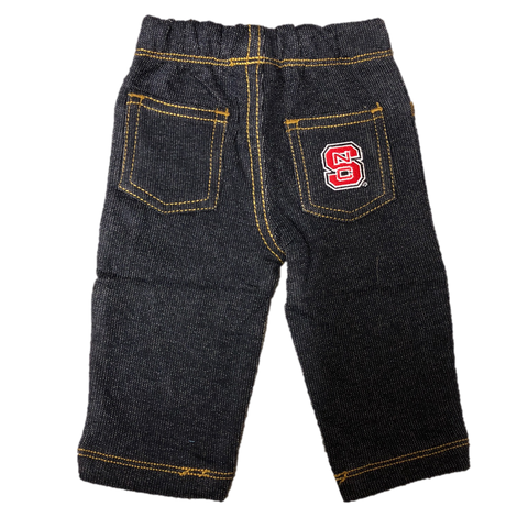 NC State Wolfpack Infant Denim Block S Jeans