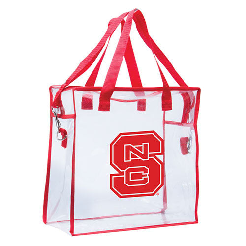NC State Wolfpack Clear Game Day Tote
