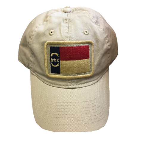 NC State Khaki Relaxed Twill State Flag Hat
