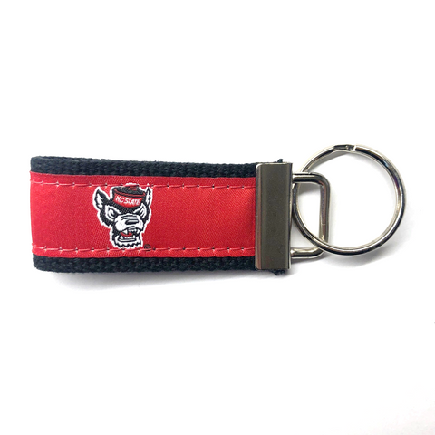 NC State Wolfpack Red and Black Ribbon Key Chain