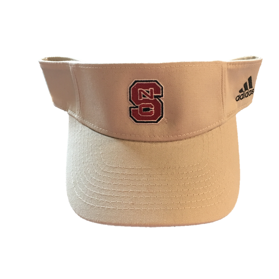 NC State Wolfpack Adidas Khaki 2 Visor – Red and White Shop e2cdeb33a28